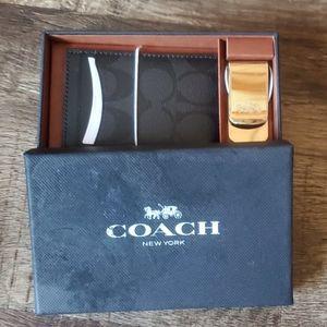 Coach shadow card gift set